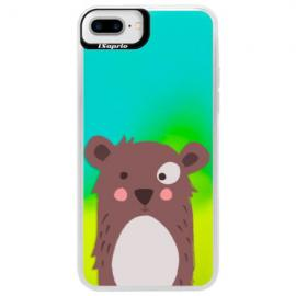Neonové pouzdro Blue iSaprio - Unicorns Love Coffee - iPhone X
