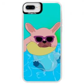 Neonové pouzdro Pink iSaprio - Skull in Colors - iPhone XS