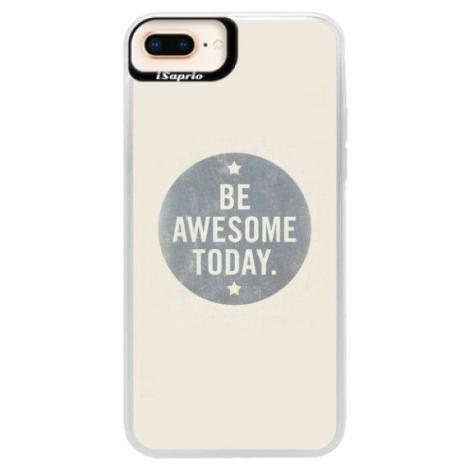 Neonové pouzdro Pink iSaprio - Abstract Triangles 03 - black - iPhone XS